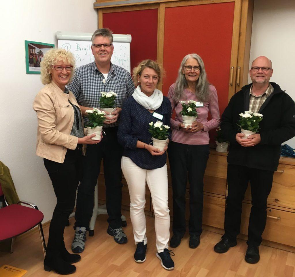 v.l.n.r.: Anita Menda, Dr. Harald Dippel, Ulrike Mathias, Brigitte Kiese und Gernot Hübner